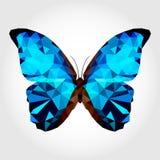 在白色blackground的蓝色蝴蝶 库存照片