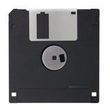 在白色blackground隔绝的黑磁盘 免版税库存图片