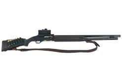 在白色MR-153查出的狩猎步枪 库存图片