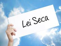 在白色pa的列伊Seca禁止酒精法律n葡萄牙标志 库存例证