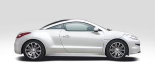 在白色RCZ隔绝的标致汽车 免版税图库摄影