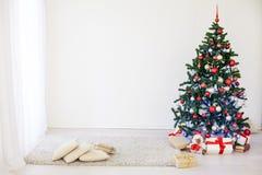 在白霍尔的圣诞树圣诞节的 库存照片