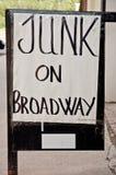 在百老汇的旧货 图库摄影