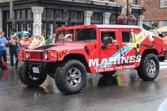 在百老汇的游行在纳稀威,田纳西 库存图片