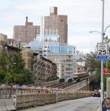 在百老汇纽约美国的火车 库存图片