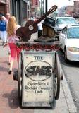 在百老汇,实况音乐地点纳稀威田纳西的阶段 免版税库存照片