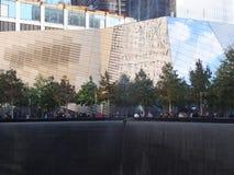 在的世界贸易中心的纪念品爆心投影纽约 免版税库存照片