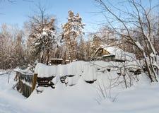 在的冬天远程安排 免版税库存图片