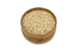 在的切细的麦子木器物 免版税库存照片