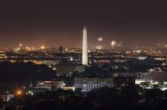 在的华盛顿特区7月4日从弗吉尼亚的 库存照片