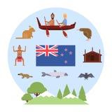 在的新西兰Waitangi天2月6日 免版税图库摄影