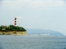 在的灯塔黑海 免版税库存图片
