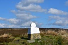在的肥胖贝蒂石纪念品停泊约克夏在英国 库存图片