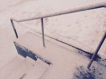 在的雪在楼上 免版税库存图片