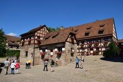 在皇家城堡的一个看法在纽伦堡,德国 免版税库存图片