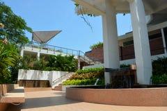 在皇家峭壁海滩胜地&温泉的建筑学 库存照片