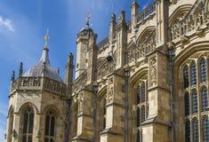 在皇家教堂的外部的建筑细节风的 库存照片