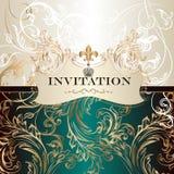 在皇家样式的典雅的邀请卡片 库存图片