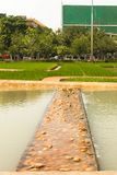 在皇家火葬场的某一部分嗯的已故的国王普密蓬・阿杜德在2017年11月的04日萨娜姆Luang 免版税图库摄影