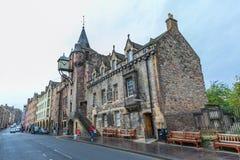 在皇家英里的Canongate Tolbooth在爱丁堡,苏格兰 库存图片