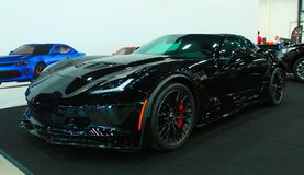 在皇家车展的新的美国肌肉汽车 免版税库存照片