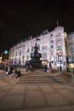在皮卡迪利广场伦敦,英国-英国- 2016年2月22日的喷泉 图库摄影