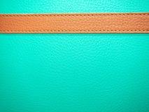 在皮革薄荷的纹理背景的棕色皮革 免版税图库摄影