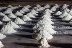 在盐沼的盐小山 免版税库存照片