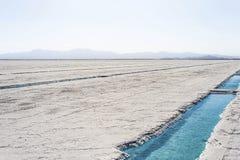 在盐沼Grandes Jujuy,阿根廷的水池 免版税库存照片