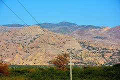 在盐范围山的Sakesar峰顶 免版税库存图片