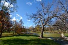 在盐水湖的秋天 库存图片