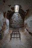 在监狱牢房的床框架 库存图片