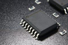 在盒的微型电路表面装配的 免版税图库摄影