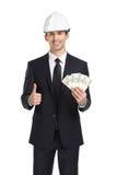 在盔甲保证金和赞许的商人 免版税库存照片