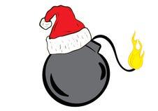 在盖帽的圣诞节炸弹 图库摄影