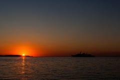 在盖帽d `安地比斯,法国的日出 库存照片