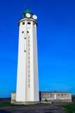 在盖帽dAntifer,塞纳河-海事,法国的灯塔 免版税库存图片