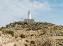 在盖帽Formentor的灯塔 库存照片