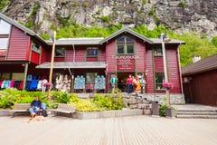 在盖朗厄尔峡湾,挪威的Geiranger 免版税库存照片