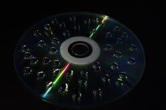 在盘上的水下落 免版税图库摄影