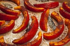 在盘子的烤南瓜 免版税图库摄影