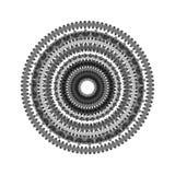 在盘旋混乱在圈子的背景的抽象 图库摄影