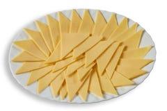 在盘的乳酪 图库摄影