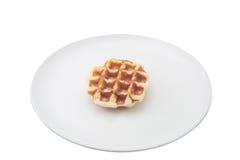 在盘的奶蛋烘饼 库存照片