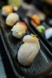 在盘的寿司 免版税库存照片