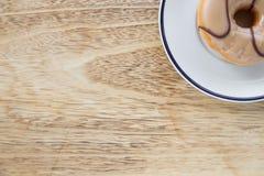 在盘的油炸圈饼 库存照片