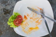 在盘的空的食物 免版税图库摄影
