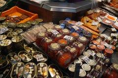 在盘的鱼子酱在里加 免版税图库摄影