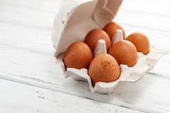 在盘的鸡蛋 库存照片