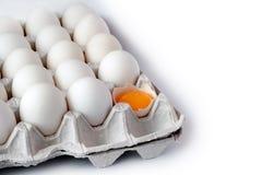 在盘的鸡蛋 免版税库存照片